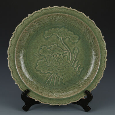 One Rare Chinese Song Dynasty Longquan kiln Porcelain Bird Plate