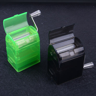 1*Hand Crank Crusher Smoking Case #V Tobacco Cutter Grinder Hand Muller Shredder