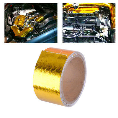 Exhaust Muffler High Temperature Resistant Shield Wrap Reflective Tape for car