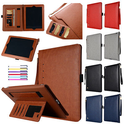 For iPad 9.7 2018 6th Air 2 Mini 4 Pro 9.7 Smart Leather Case Wallet Stand Cover