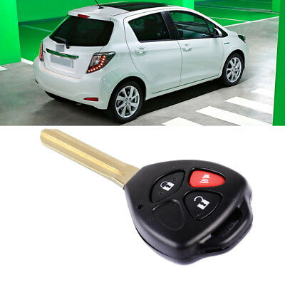 3 Button Remote Key Fob Case Shell Replacement Fit for Toyota RAV4 Yaris Scion