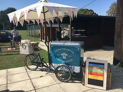 Ice Cream Bike HIRE, Stop Me & Buy One ! Vintage Traditional Tricycle Cart HIRE