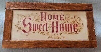 Dolls House home sweet home sign