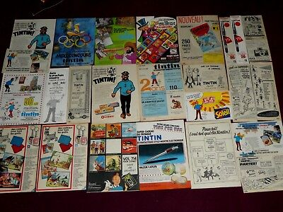 Tintin Gros Lot Publicites Puzzle Fromage Olibet Ola Stylo Tigre Selection