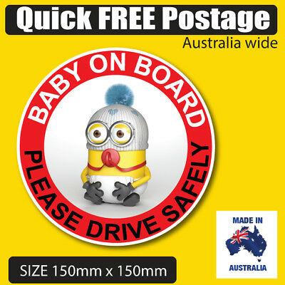 MINION Baby on board car sticker
