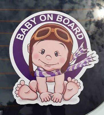 Cute Baby on board car sticker Pilot