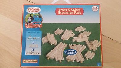 Thomas The Tank Engine Cross & Switch Track Expansion Pack for Wooden Train Set