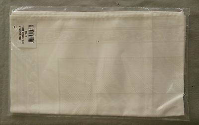 Table Runner with 14ct Aida sections for cross stitch 55%cotton 45%viscose White