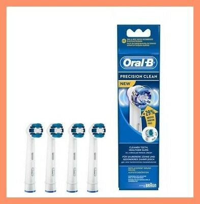 *Braun Oral-B PRECISION CLEAN Electric Toothbrush Replacement Brush Heads 4 Pack