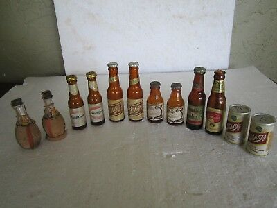 A Lot Of Six-Paired Vintage Glass Beer Bottle Salt And Pepper Shakers