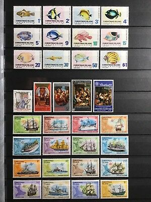 CHRISTMAS ISLAND COLLECTION, 1968 - 1977, MH mint hinged lot, 2 SCANS