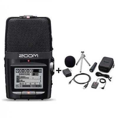ZOOM H2n Portable Handy Digital Flash Recorder + Accessory Pack APH-2n NEW