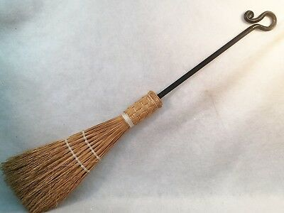 Wrought Iron Fireplace Corn Broom