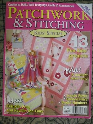 Patchwork & Stitching Mag VOL 6 NO 9 Kids Special Jungle Fairy Number Frog Quilt