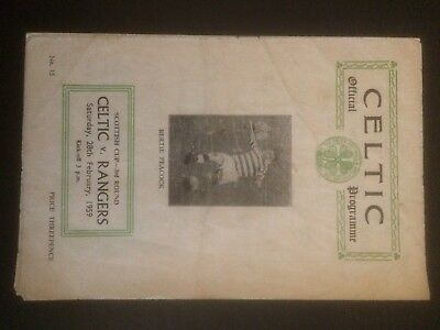 1959 Celtic V Rangers Scittish Cup 3rd Round