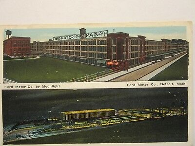 1918 FORD MOTOR COMPANY by MOONLIGHT Model T era. Postage Due