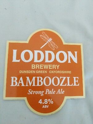beer pump clip badge -. Loddon Brewery Bamboozle Strong Pale Ale