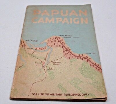 Papuan Campaign Military Intelligence Booklet The Buna-Sanananda Operation Rare
