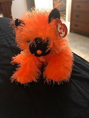 Internet Exclusive TY Punkies SPOOKERS the Cat 8 inch - MWMTs Stuffed Toy
