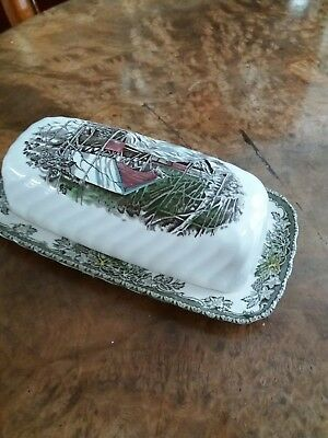 Vintage butter dish with lid