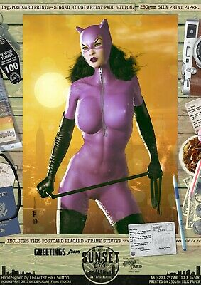 Jim Balent's Catwoman - Gotham Sunset City Series SE Signed A3 Art Print Batman