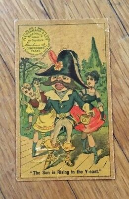 Early FLEISCHMANN YEAST Advertising Trade Card PIRATE Sun Rising in the Yeast