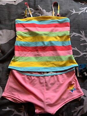 9e7bbd4c3f GEORGE AT ASDA Tankini Brand New Tags Pink Stripe Size 12 - £1.99 ...