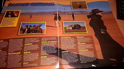 THE DAMNED - 'Damned Nations' magazine feature - from 'Smash Hits' 1987 *RARE*