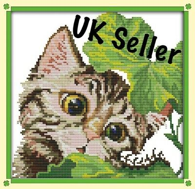 A Curious Cat Kitten Cross Stitch Kit 14 CT Tapestry Tabby Cats