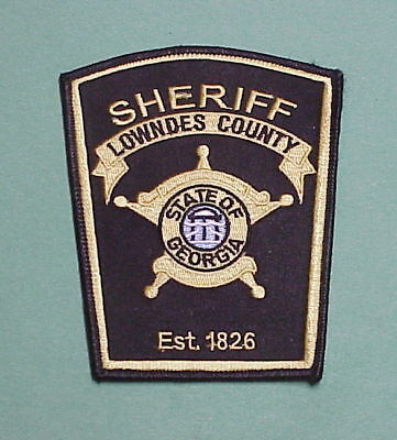 Lowndes County  Georgia  Ga  Est. 1826  Sheriff /  Police Patch  Free Shipping!!