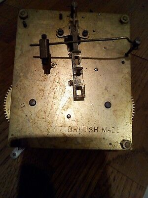 Vintage British Made Chime Clock Movement  Possibly 8 Day.