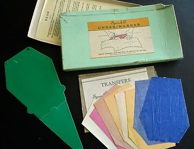 Vintage Speed-E Undermarker Sewing Tool for Marking Fabric