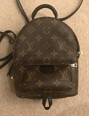 LOUIS VUITTON PALM Springs Backpack Mini Monogram Pre-Owned ... f41333d487