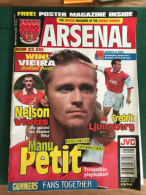 ARSENAL The Official Magazine Vol 2 Issue 5 Interview with Manu Petit