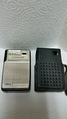 Valiant Deluxed 6 Transistor Radio Made In Japan W/case ( Free Shipping )