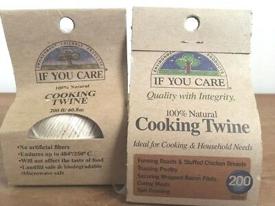 If You Care Natural - Cooking Twine - 200 ft SET of 2 NEW