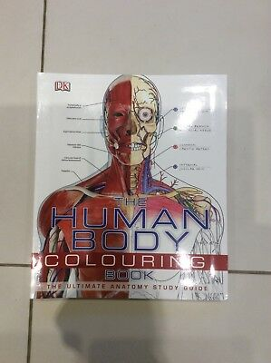 The Human Body Clouring Book by DK Publisher The Ultimate Anatomy Study Guide