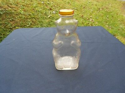 Vintage Snow Crest Beverages Glass Figure Bear Bank Bottle Salem Mass.