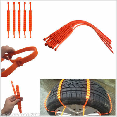 1Pc of  Anti-skid Chains For Snow Mud Car Truck Wheel Tyre Tire Cable Ties Nylon