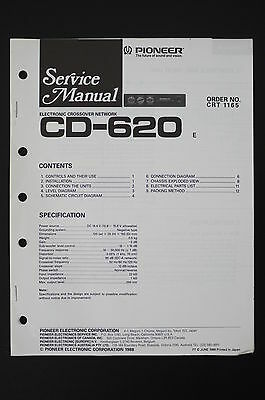 pioneer cd-620 electronic crossover network service manual/wiring diagram  o101