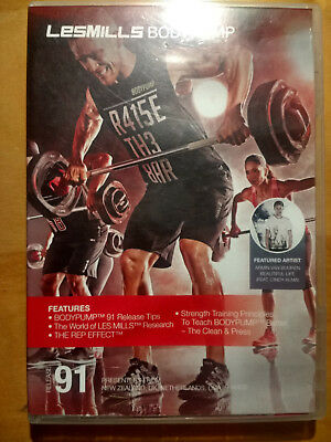 LesMills BODYPUMP release 91 - DVD, CD & Choreography Notes - FREE Shipping