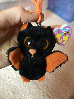 "retired ty Beanie Boos rare key clip 3"" xmas midnight with purple tags"
