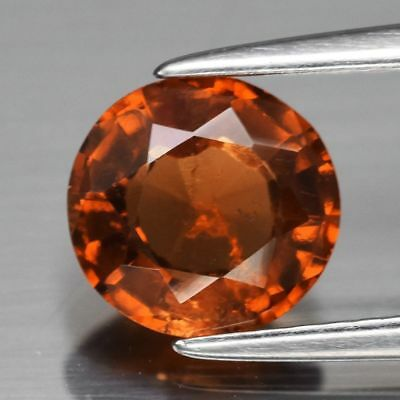 1.20ct Round Natural Unenhanced Medium Orange Hessonite Garnet