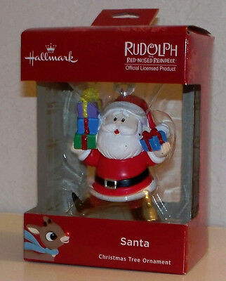 2018 Hallmark Christmas Tree Ornament Santa Claus Rudolph The Red Nosed Reindeer