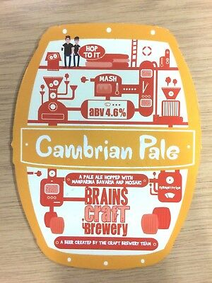 Cambrian Pale Ale Beer Pump Clip Brains Craft Brewery Cardiff