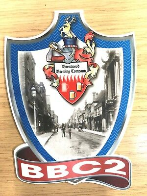 BBC2 Beer Pump Clip Brentwood Brewery Low Alcohol Brentwood High Street 1895
