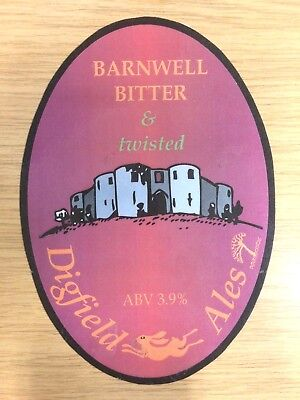 Barnwell Castle Bitter & Twisted Beer Pump Clip: Digfield Ales Brewery