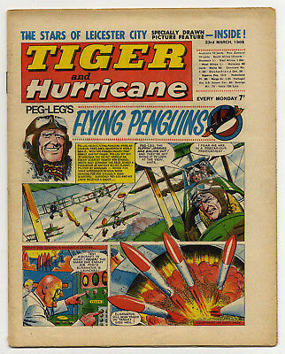 Tiger 23rd March 1968 (Leicester City FC 2-page comic strip feature)