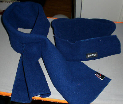 BLUE PORT Set Schal und Mütze, Fleece Polartec, blau, Polyester