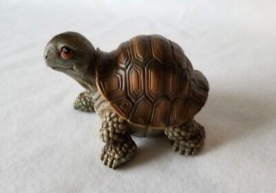 Olive Green and Brown Resin Turtle Figurine